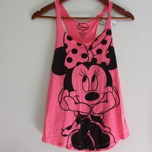 Bright Pink Minnie Mouse Tank Top